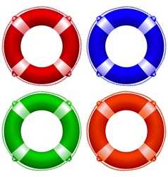 Life buoy collection vector