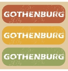Vintage gothenburg stamp set vector