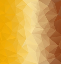 Yellow brown honey polygonal triangular pattern vector