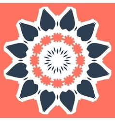 Orange mandala print tile vector