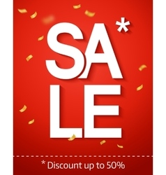 Sale inscription on the red background vector image