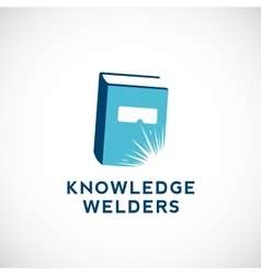 Knowledge welders education abstract sign vector
