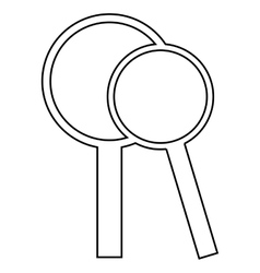 magnifying icon design vector image
