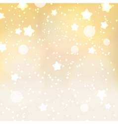 abstract yellow dots and stars bokeh background vector image