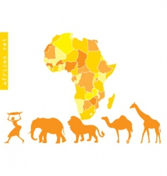 African set vector image vector image
