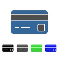 Bank card flat icon vector