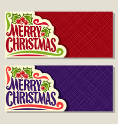 banners for christmas holiday vector image vector image