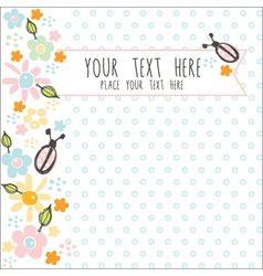 card with blue dots vector image vector image