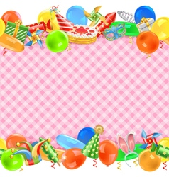 Celebration border vector