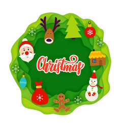 christmas paper cut concept vector image vector image