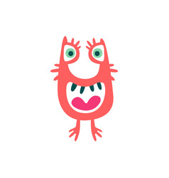 cute colorful cartoon monster fabulous incredible vector image