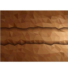 Dimension of brown triangle banner vector