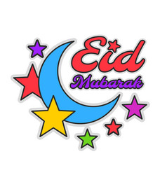 Eid mubarak colorful greeting vector