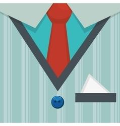 elegant gentleman dress background vector image vector image