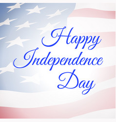 Happy independence day usa poster with us flag vector