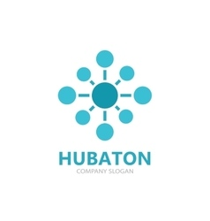 Hub connection logo design vector image