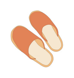 image of house slippers vector image