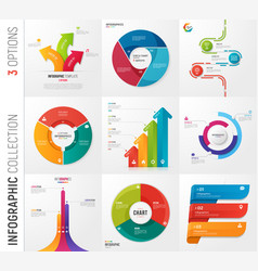 infographic collection of 3 options vector image