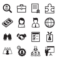 job icon set vector image