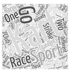 Karting A Female Sport Too Word Cloud Concept vector image