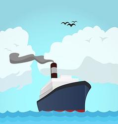 Ocean line vector image