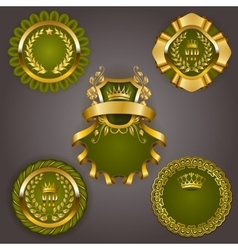 Set of gold vip vector