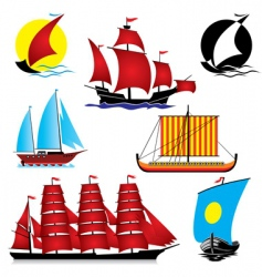 ships vector image vector image