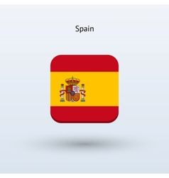 Spain flag icon vector