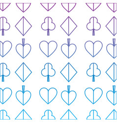 Suits diamond pike spade tile clover clubs hearts vector