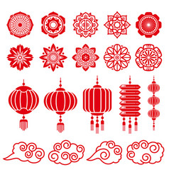 Traditional chinese and japanese decorative design vector