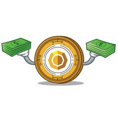 With money komodo coin mascot cartoon vector