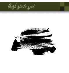 Abstract black ink hand drawing brush strokes spot vector