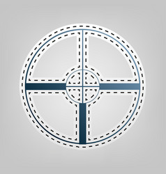 sight sign   blue icon with vector image