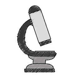 Microscope medical isolated icon vector