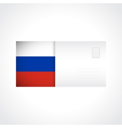 Envelope with russian flag card vector