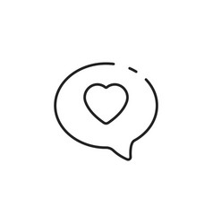 Thin line love chat icon vector