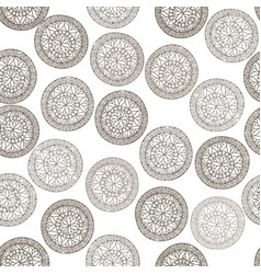 abstract geometric pattern floral circle oriental vector image