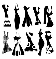 Fashion woman dress vector
