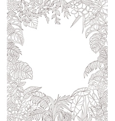Tropic outline rectangle vector