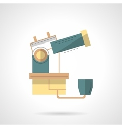 Observatory telescope flat design icon vector