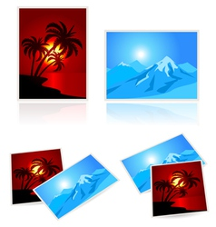 Pictures from vacation vector image