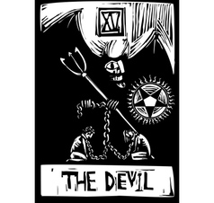Devil tarot vector