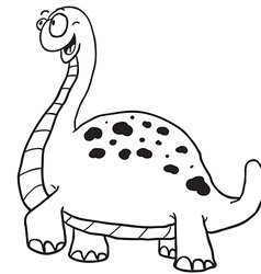 Simple black and white dinosaur vector