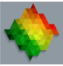 Colorful rectangle diamond shape wallpaper vector