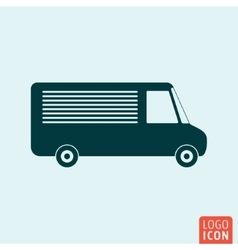 Vehicle icon isolated vector