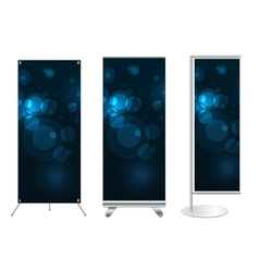 banner stand display vector image