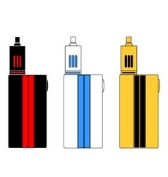 - vaporizers in three colors vector
