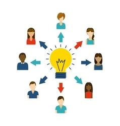 Avatar people and bulb icon think and idea design vector