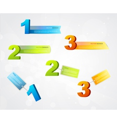 Banners with numbers and place for own text vector