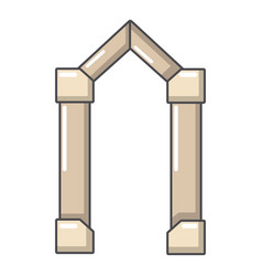 Archway element icon cartoon style vector